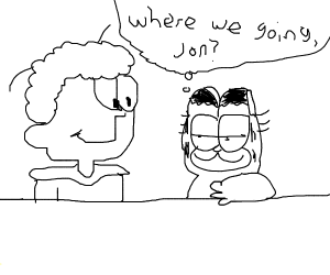 Garfield Wants to Know Where He and Jon are Going by Dariusman143