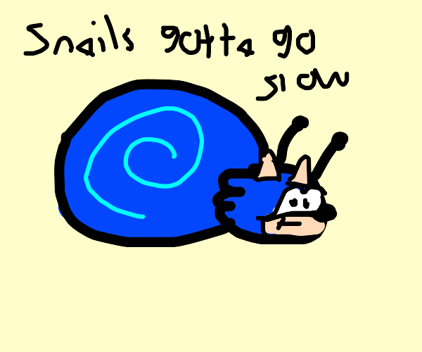 Sonic the Snail by Dariusman143