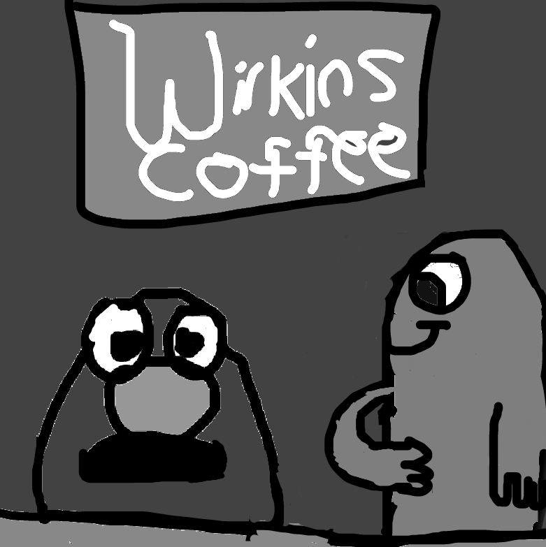 Wilkins, Wontkins, and the Wilkins Coffee logo by Dariusman143