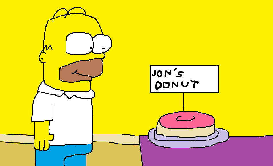 Homer and Jon's Donut by Dariusman143