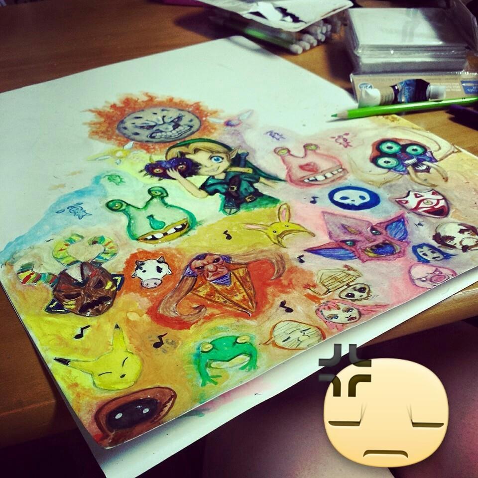 Zelda Watercolour by DarkDragon11