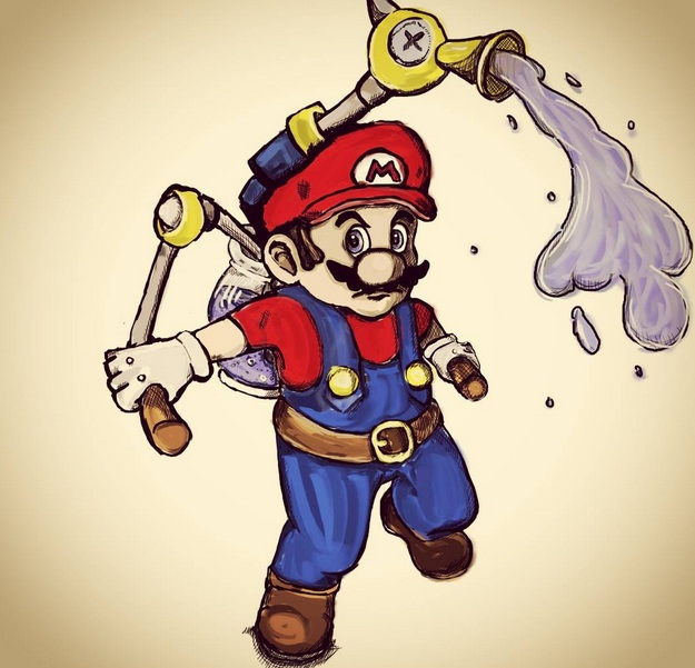 Mario Sunshine Colored! by DarkDragon11