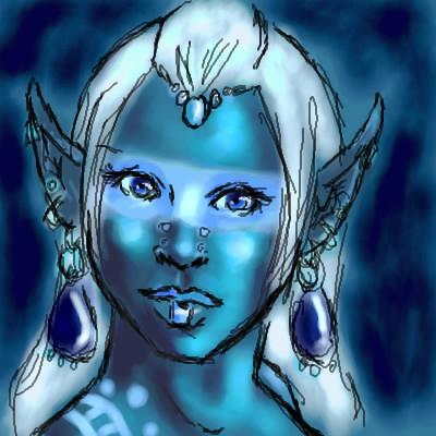 An Elf Doodle by DarkDragonMaster