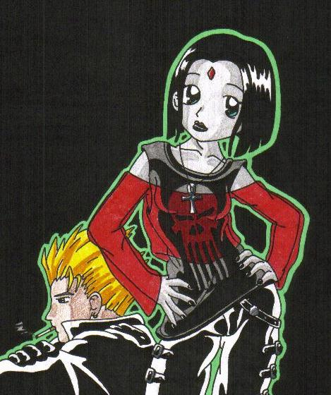 Vash and Raven, Off Duty by DarkFangDragon