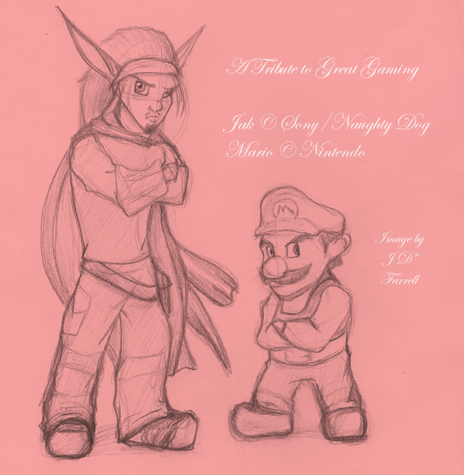 Jak and Mario by DarkMane