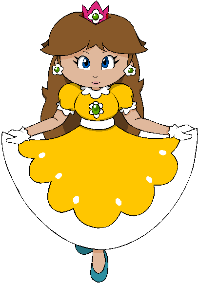 Princess Daisy for pacmaster2000's contest by DarkPeach