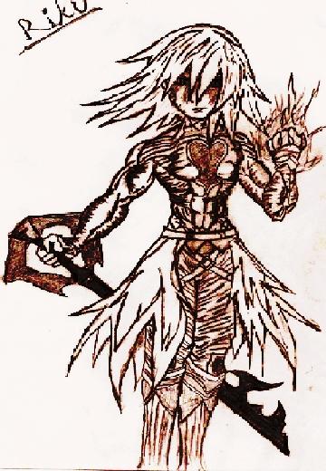 Riku  (Dark form) Inked by Dark_Riku_989