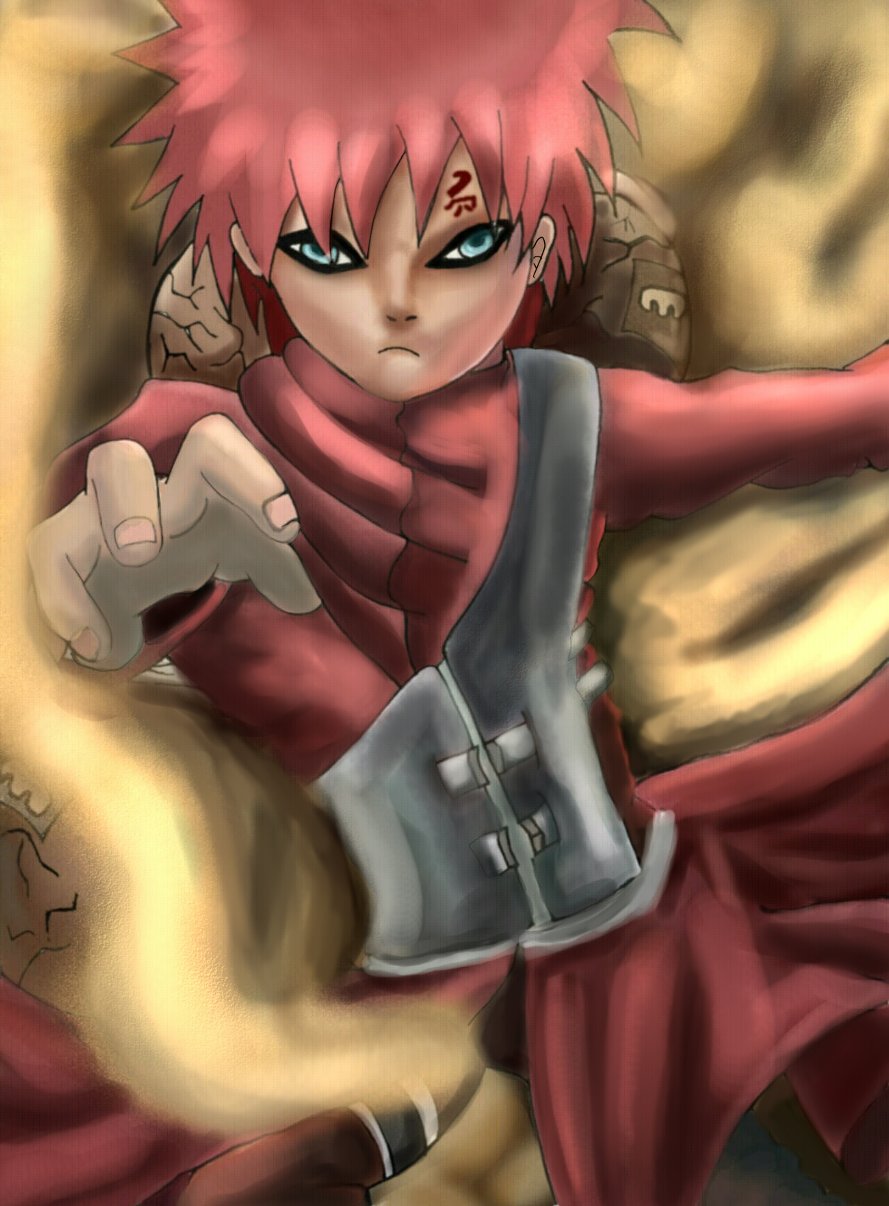Gaara of the sand by Darkmasterbabe