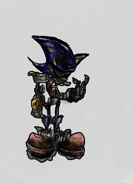 Rusty Metal Sonic (concept art) by DaveTheSodaGuy