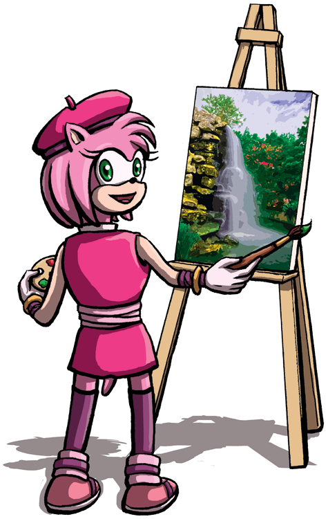 Amy Paints by DeathbyChiasmus