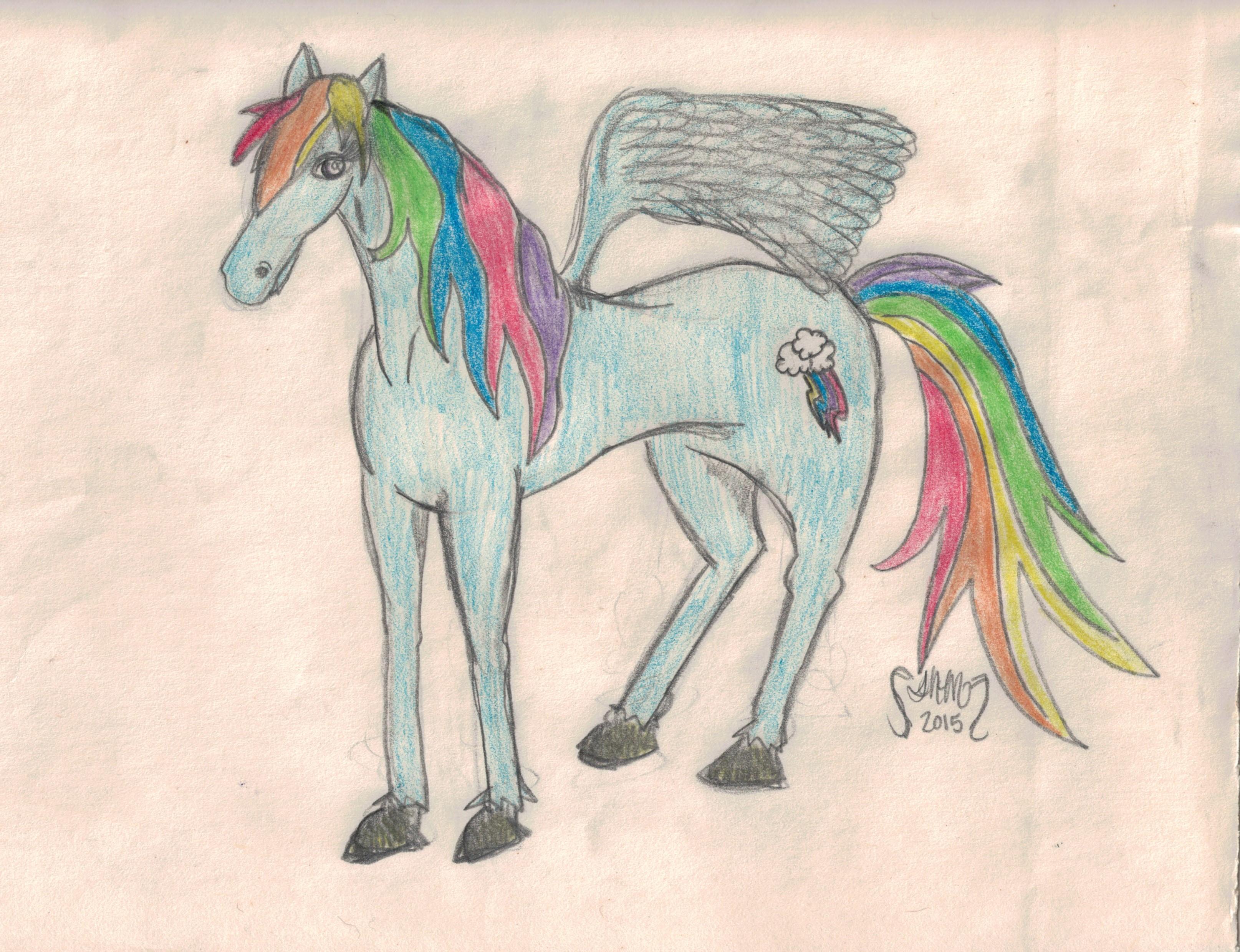 """""""Realistic"""" Rainbow Dash by Deedlit"""