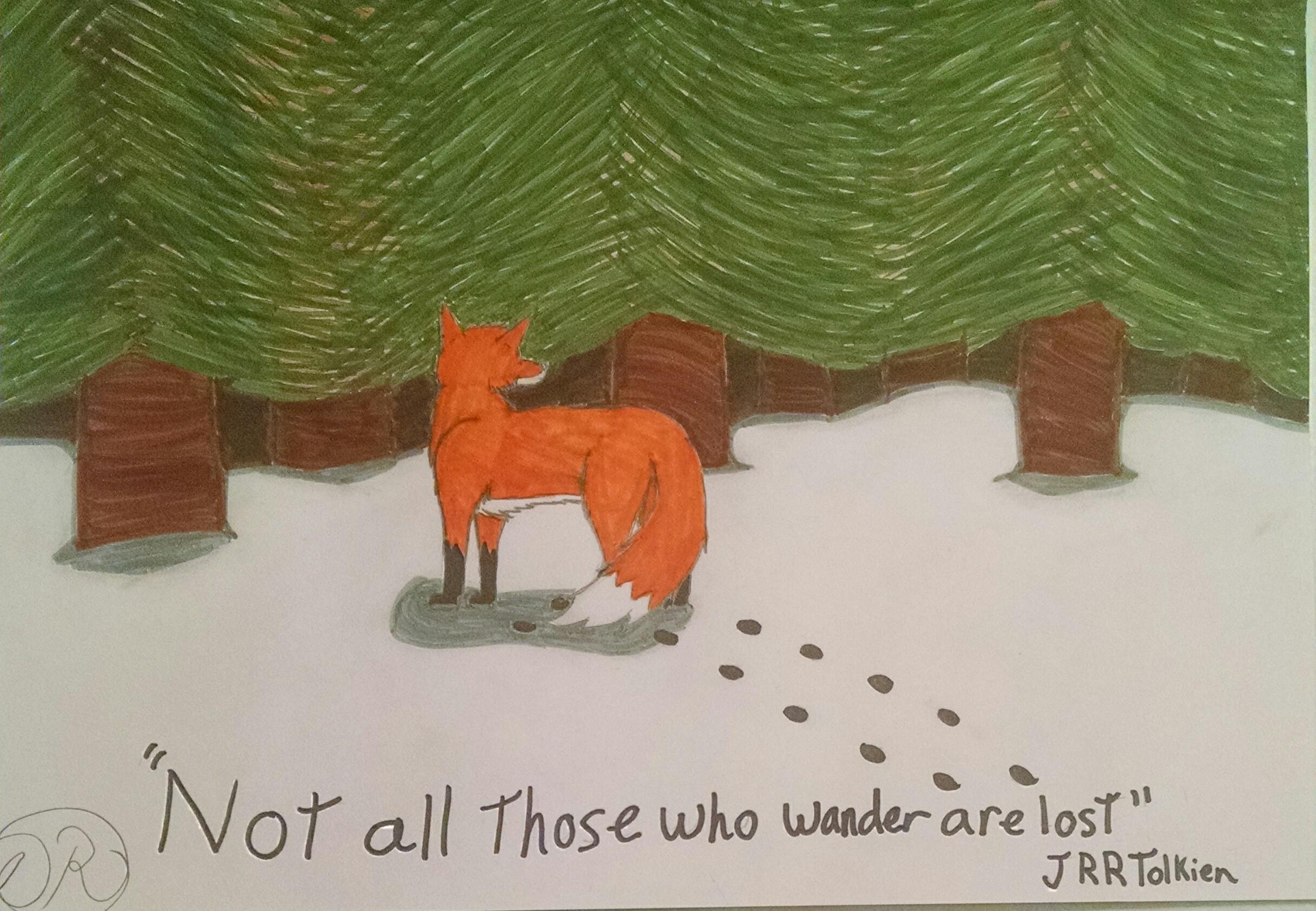 Fox in the woods by DestinyRider