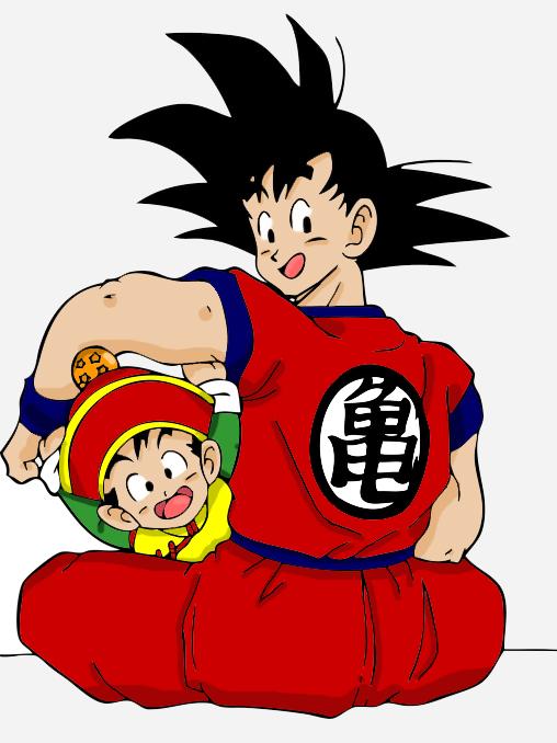 Goku & Gohan by Deuce