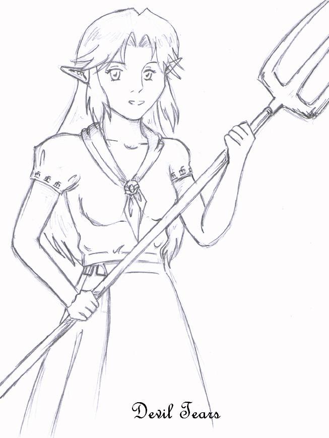 Malon, girl from LonLon Ranch by Devil_Tears