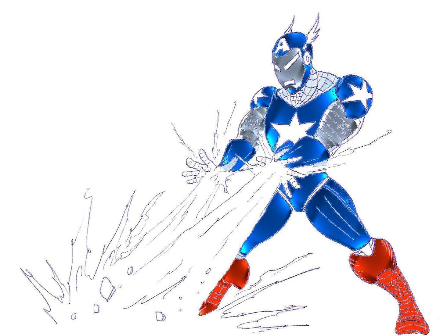 Captain Iron man BLAST by DevilmayCry1