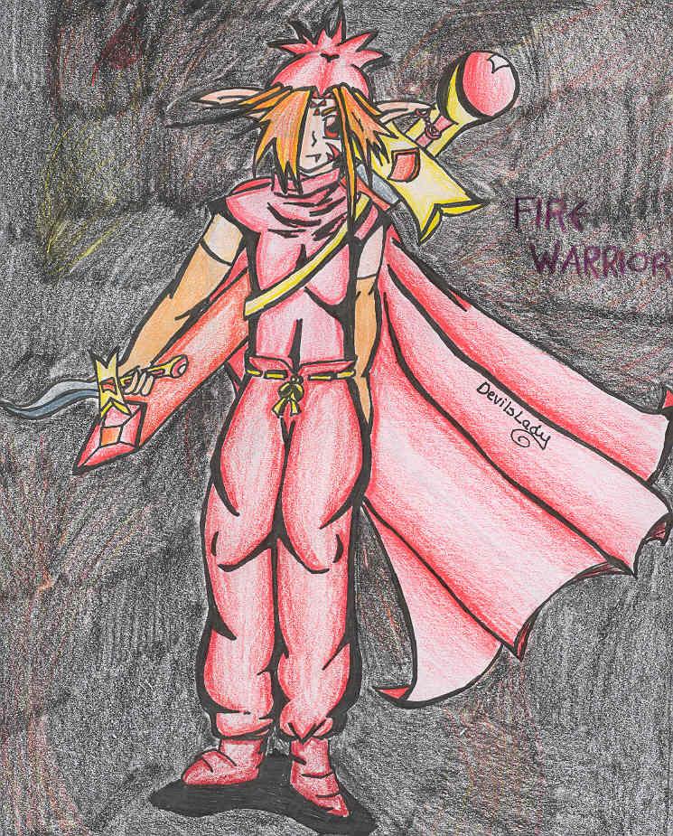 Fire Warrior by DevilsLady