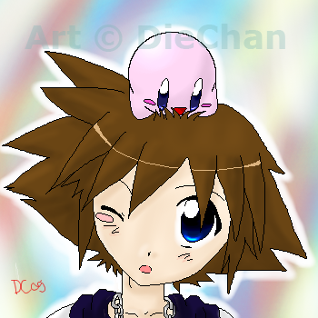 Kirby and Sora by DieChan