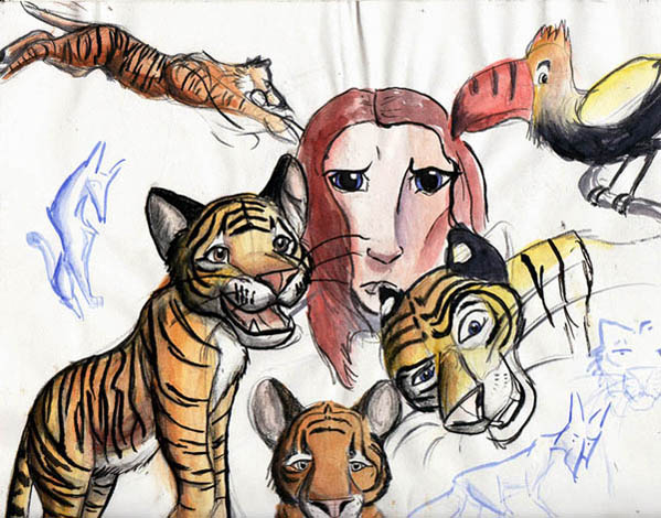 A page of tigers by Dogss