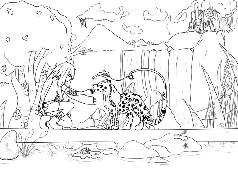 lineart fantasy by Dolurn