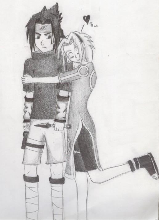Sasuke and Sakura by Dra-goon