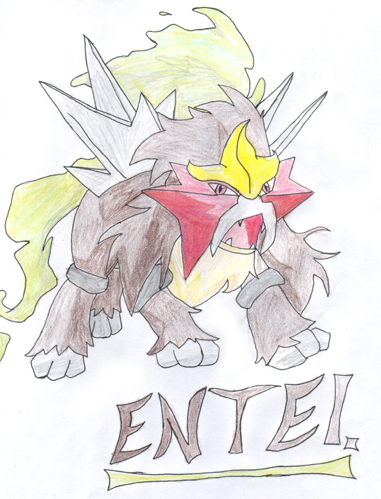 Entei by Dragonia