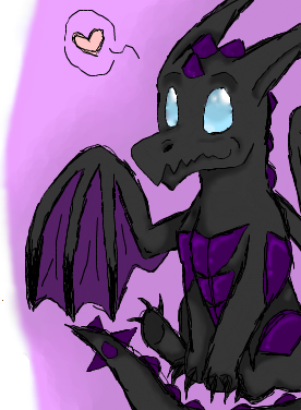 Chibi Dark Dragon *0* by Dragonia