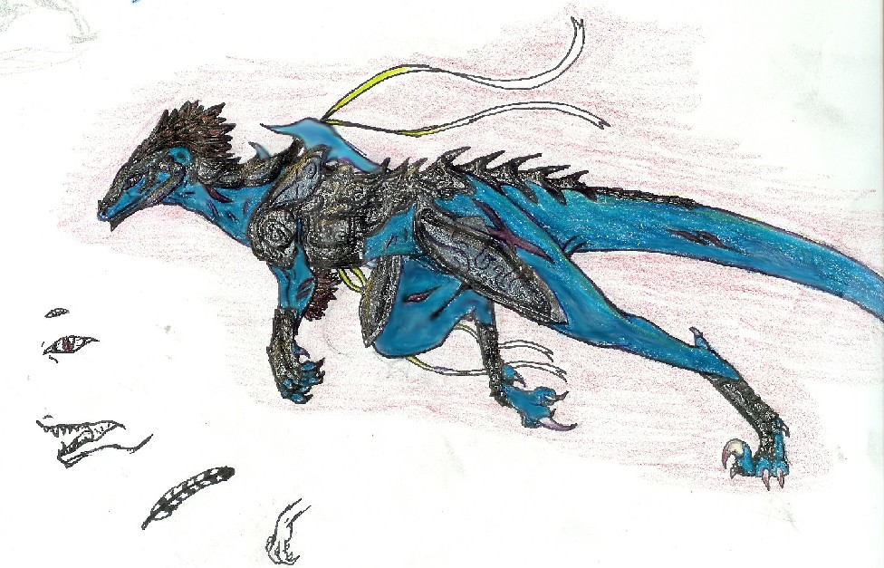 Arbiter velociraptor/ utahraptor by Dragontine