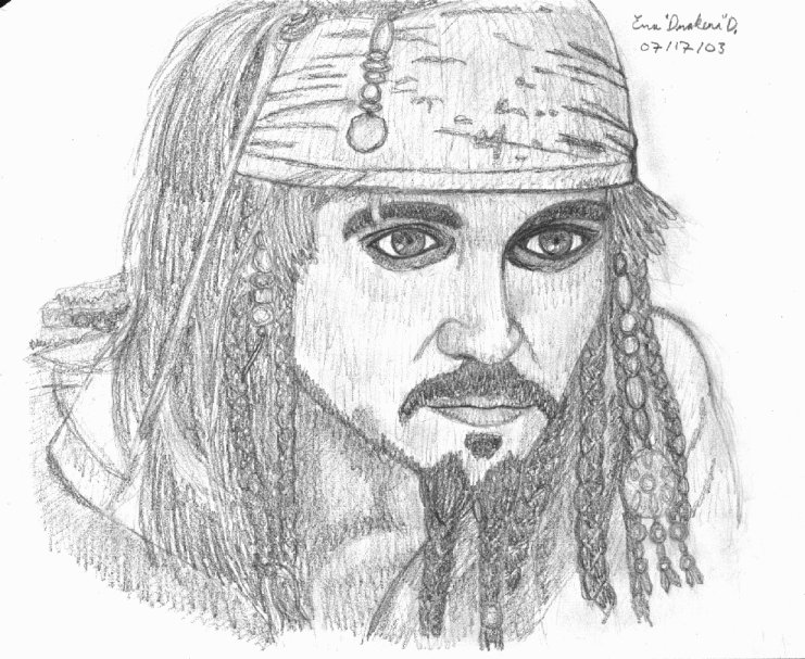 Captain Jack Sparrow (POTC) by DrakenaTheDestroyer