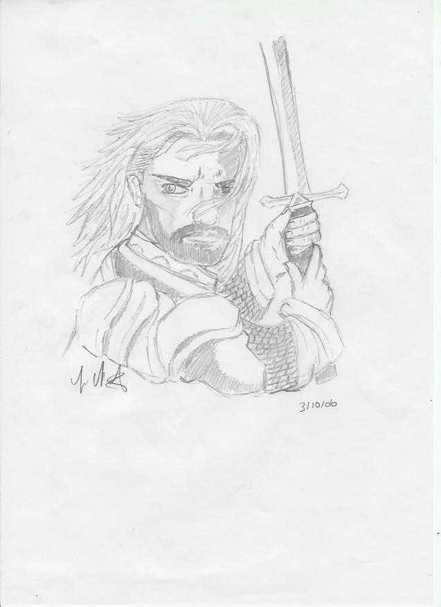 aragorn LOTR by Drakengardfan