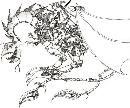 Greyhound's dragon!^^ by DreamOfFire