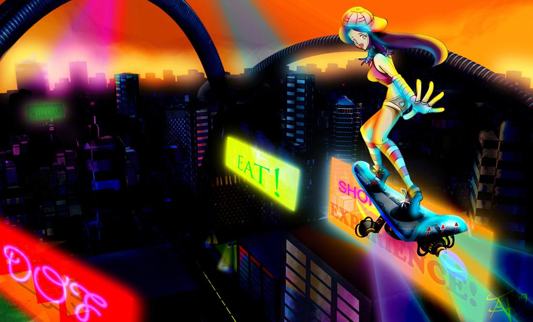 Sky Boarder by DreamOfFire