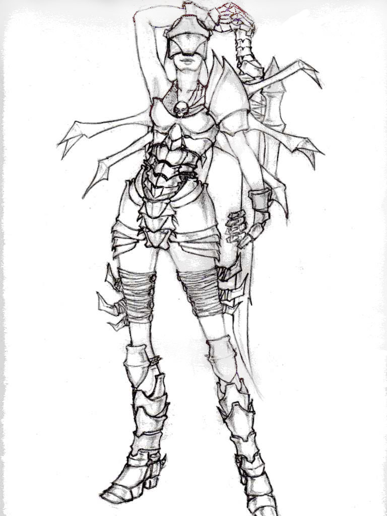Sketch -- Blackguard by DreamlessMan