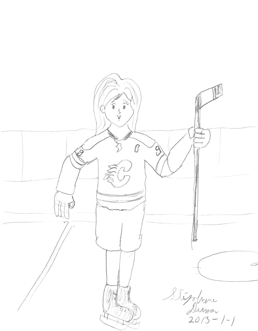 Hockey night with Kairi by Dumas