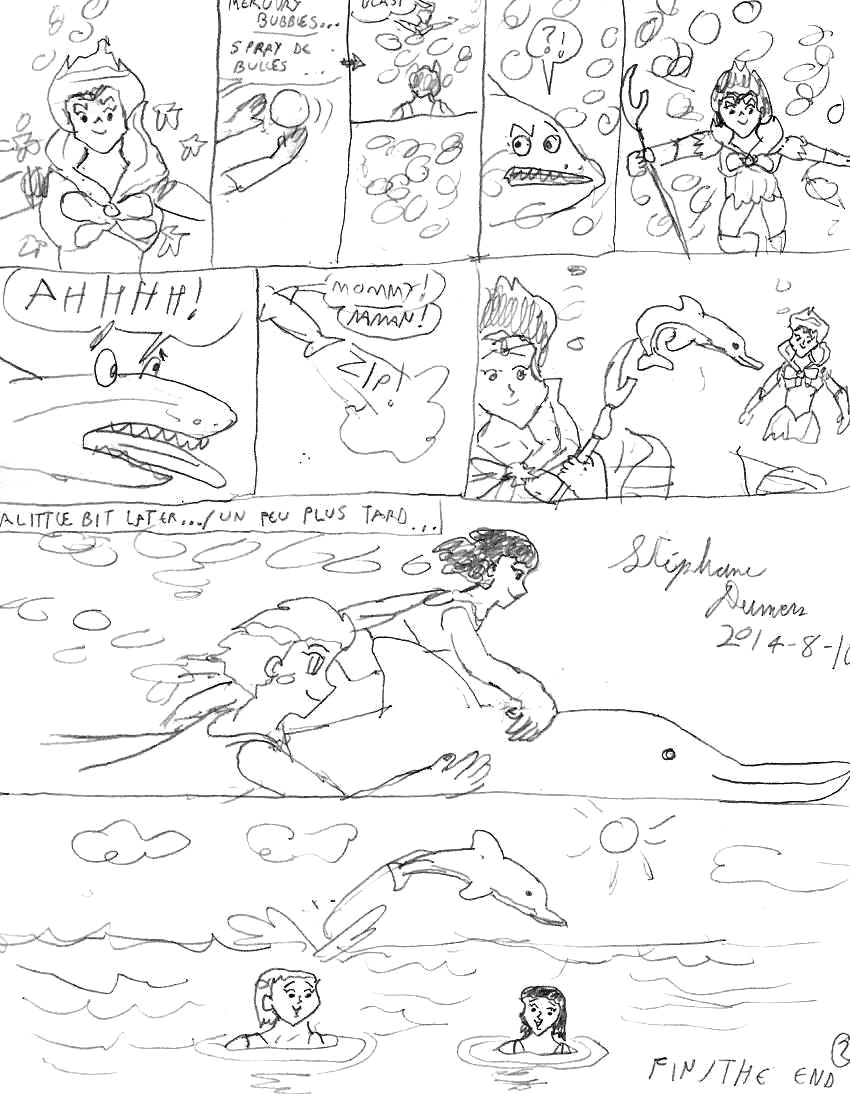 Aqua-Sailors and a dolphin page 2 by Dumas