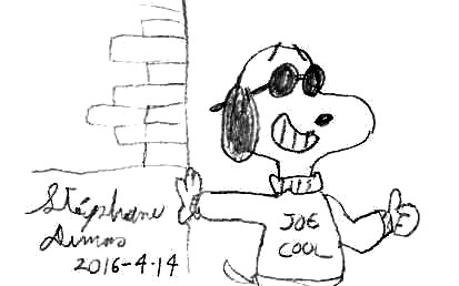 Snoopy as Joe Cool by Dumas
