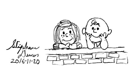 Charlie Brown and Peppermint Patty by Dumas