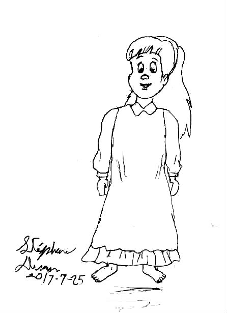Little girl from Chip'N'Dale Rescue Rangers by Dumas