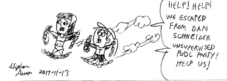 Timmy and Trixie Tang running by Dumas