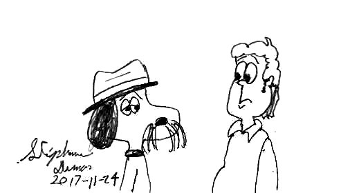 Spike and Jon Arbuckle by Dumas
