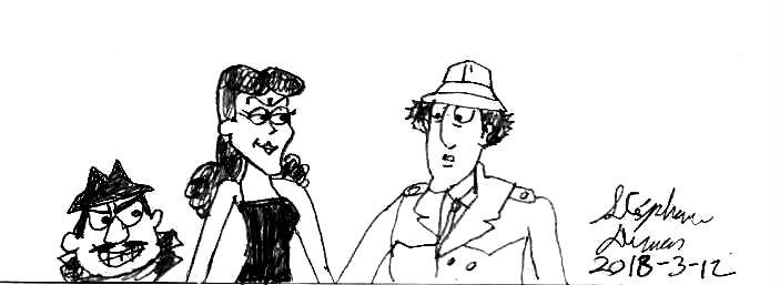 Inspector Gadget meet Boris and Natasha by Dumas