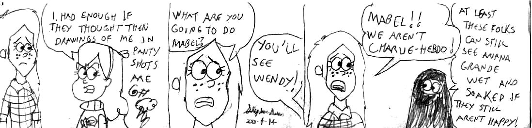 Wendy Corduroy and Mabel Pines chat by Dumas