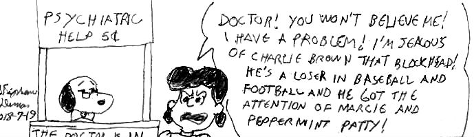 Lucy visit Snoopy the psychiatrist by Dumas