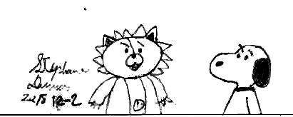 Kon and Snoopy by Dumas