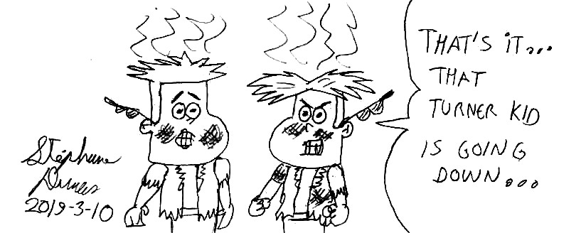 Tad and Chad after an explosion by Dumas