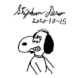 Snoopy redraw by Dumas
