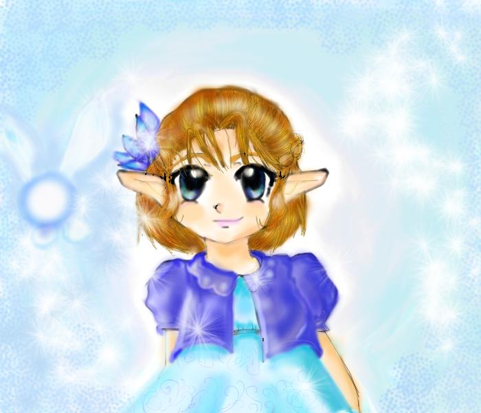 little zelda in blue by dancingcupcake