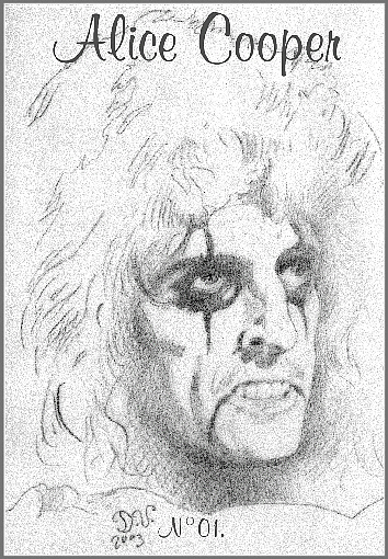 Alice Cooper portrait by danielle