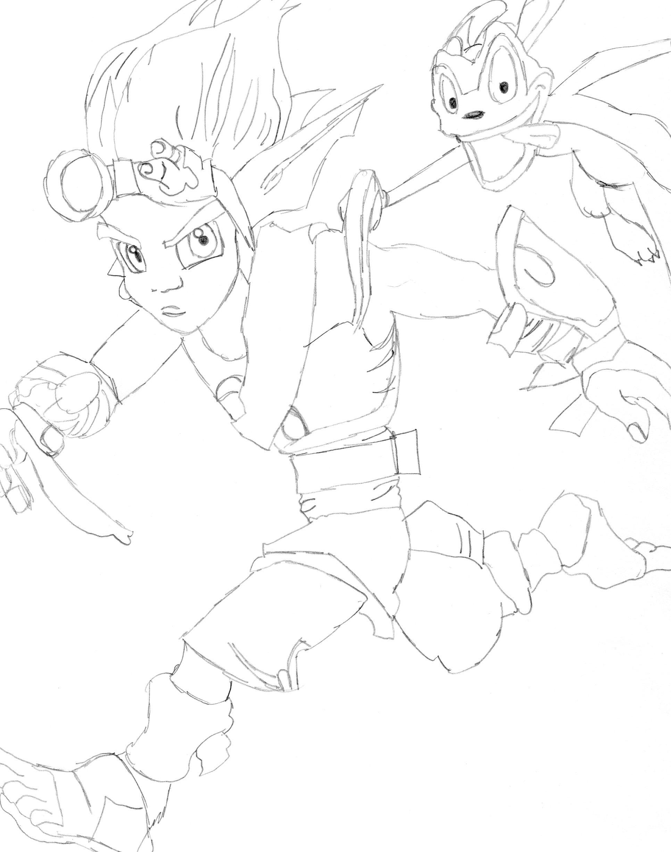 Jak and Daxter by darkangel14