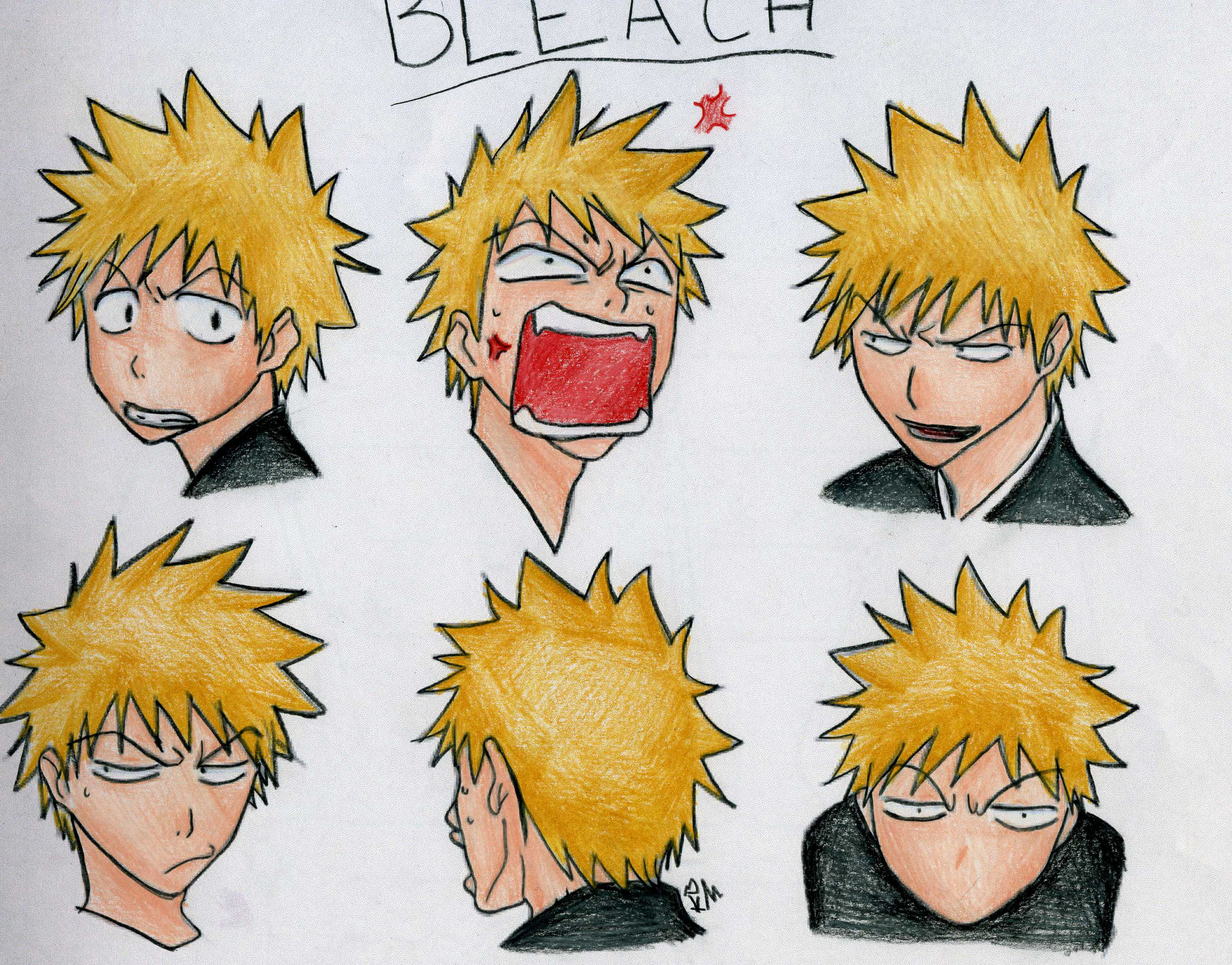 the many faces of ichigo by darkangel14