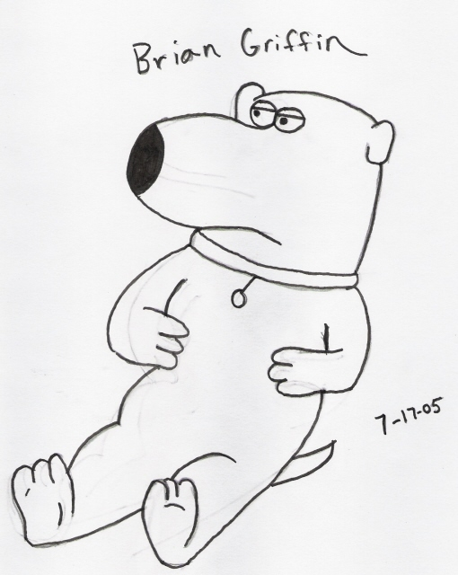 Brian Griffin (request from several people) by darkcow00